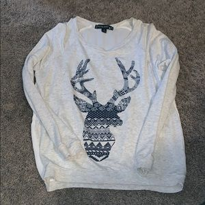 Long sleeve deer print shirt